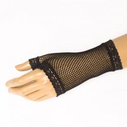 Síťované rukavičky fialové dlouhé