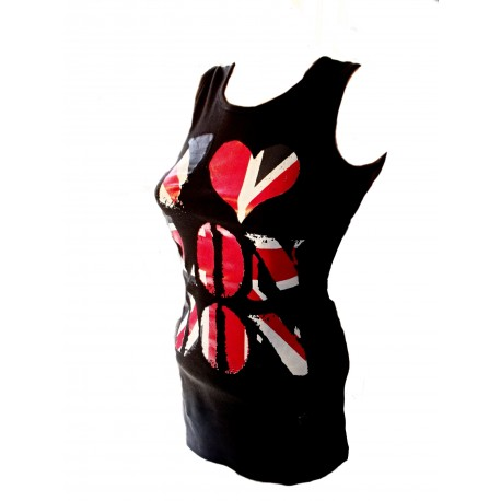 Tílko, tunika I LOVE LONDON černé