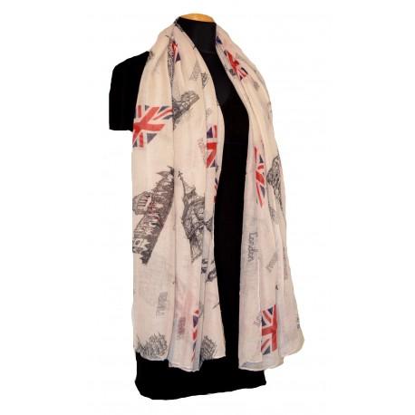 Šátek dámský UK modrý