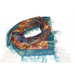 Šátek zlatý leskly vzor