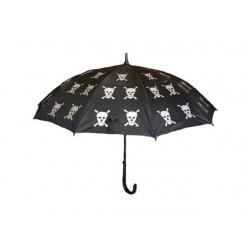 Vystřelovací deštník s lebkami