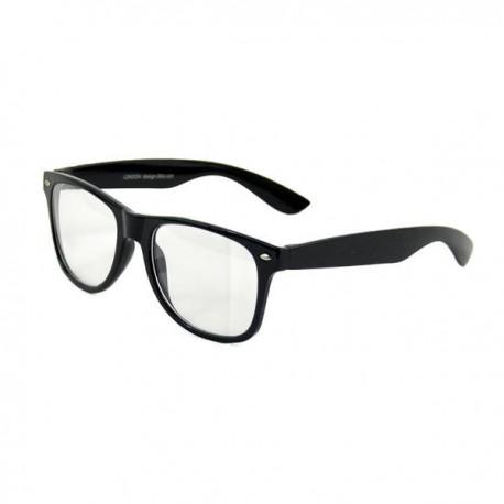 Brýle wayfarer černé čiré