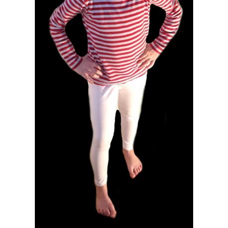 Dětské bavlněné legíny Zara bílé