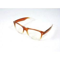 Brýle wayfarer hnědé čiré