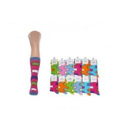 Ponožky dámské barevné