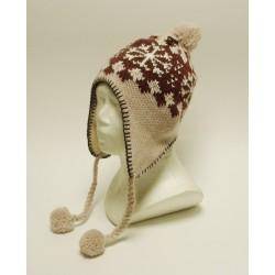 Čepice, ušanka pletená