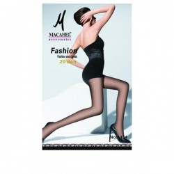 Black tights with allover pattern Agatha