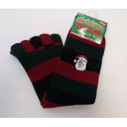 Prstové ponožky Vánoční