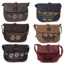 SNOWFLAKE PATTERN SHOULDER HANDBAG