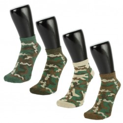 Camouflage Women's Trainer Socks 3 PACK