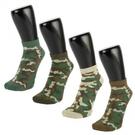 Sportovní ponožky maskáčové 3 PÁRY