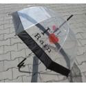 Deštník průhledný  I Love Rain
