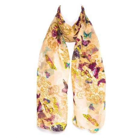 Šátek šifónový motýl