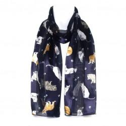 Šátek šifónový kočky