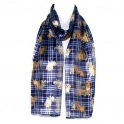Šátek šifónový pejsci