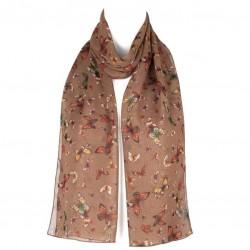Šátek šifónový motýlci