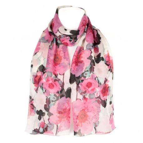 Šátek šifónový květovaný