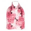 Šátek šifónový růže