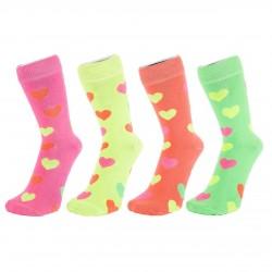 Ponožky neon srdíčko