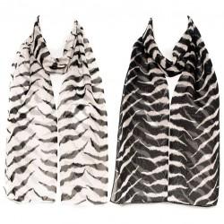 Šátek šifónový zebra