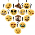 Plyšový přívěsek na klíče smajlík Emoji