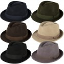 ELEGANT 100% WOOL TRILBY HAT WATERPROOF & CRUSHABLE HANDMADE IN ITALY
