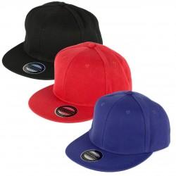 PLAIN FLAT PEAK CAP
