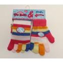 Duhové prstové ponožky + rukavice