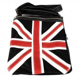 BLACK UNION JACK DESIGN SMALL SHOULDER BAG