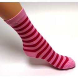 Ponožky barebný prúžok