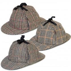 Płaskie czapki Sherlock Holmes