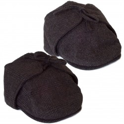 COUNTRY STYLE WOOL BLEND IVY FLAT CAP WITH EARFLAPS