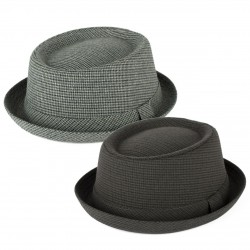 TWEED PORK PIE HAT