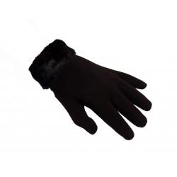 Rukavice dámské s kožešinkou černé