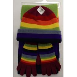 Čepice + šála + rukavice